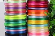 25 yard/Lot Width 6MM / Satin silk Ribbon Packing Material DIY Craft Decor Party Gifts package Wrapping Scrapbooking Supplies(China)