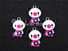AE310 Mix Color 100Pcs Alloy Metal Enamel Frog Prince Charms Pendants 26x20mm bead bead