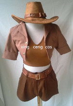 The Sheriff of Piltover Safari Caitlyn Cosplay Costume Anime Custom Made Uniform