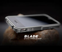 TX Blade i4 capa fundas Aluminum Bumper frame For iPhone4 iPhone 4S metal Bumper + screwdriver + 2 Film +1 Box(China)