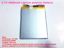 Size 3570100 3.7V 4000mah Lithium polymer Battery with Protection Board For 7 inch Tablet PC Ainol Aurora