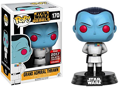 2017 Galactic Convention Exclusive Funko pop Original Star Wars - Grand Admiral Thrawn #170 Vinyl Figure Collectible Model Toy<br>