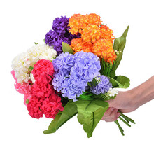 High Quality Silk Flower European Country Style 9 Heads Small Hydrangea Artificial Flowers Lavender Flower Ball Home Decor