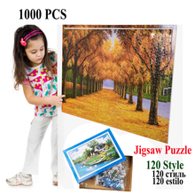 1000pcs Paper Jigsaw Puzzle Cartoon Scenery Famous Painting Stickers Creative Gift Can Customized