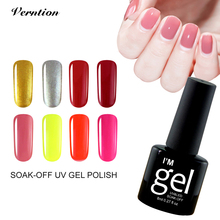 Verntion 29 Colors Lukcy Colorful Gel Nail Colors Soak Off Varnish Semi Permanent 8ml UV Gel Polish Nail Art Super Glue