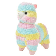 Lovely 17cm Rainbow Alpaca Plush Sheep Toy Japanese Soft Plush Alpacasso Baby 100% Plush Stuffed Animals Alpaca Gifts