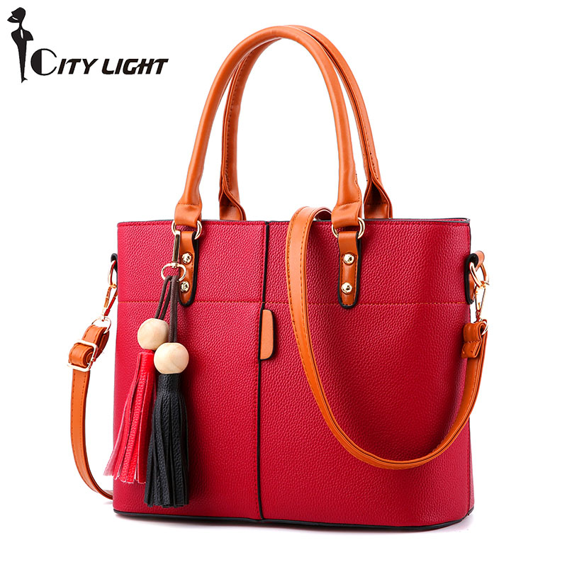 Women leather handbags famous brands women Handbag purse messenger bags shoulder bag handbags pouch High Quality<br>