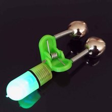 New 4Pcs/Lot LED Fishing Rod Bite Alarm Blue Light Twin Fishing Bells Clip Alarm Fishing Tool Accessory EA14(China)