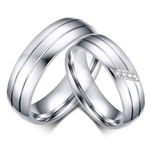 classic custom handmade his and hers wedding band engagement couples promise rings sets for men and women Couple rings(China)