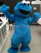 Fast Free Shipping Sesame Street Blue Cookie Monster mascot costume Cheap Elmo Mascot Adult Character Costume Fancy Dress(China)