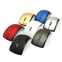 Foldable Wireless Mouse 2.4Ghz Optical Arc Mouse Computer Mause For PC Laptop Notebook Portable Creative Design Folding Receiver(China)