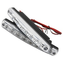 8 LED Car Auto DRL Daytime Running Driving Headlight Light Lamp Bulb White Car Styling(China)