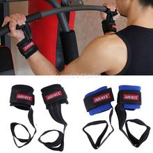 2pcs Weight Lifting Bar Straps Gym Bodybuilding Wrist Support Wraps Bandage Barbell Weightlifting Gym Training Straps Hand Wraps