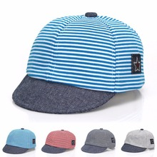 Casual Cotton Striped Sun Caps For Child Baby Snapback Girl Boy Floppy Soft Brim Infant Hats Baseball Cap Sun Hat 2017 New