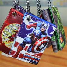 DC Comics The Avengers MARVEL Hulk / Captain America / Superman wallet LOGO credit card oyster license holders folded wallet(China)