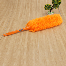 Orange Soft Microfiber Cleaning Duster Brush Dust Cleaner can not lose hair Static Anti Dusting Brush Home Cleaning Tools(China)