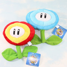 Halloween Toy Gift 17  For Mario Bros Ice Flower Fire Flower Plush Stuffed Dolls Toad Plush Toys Figures Toy