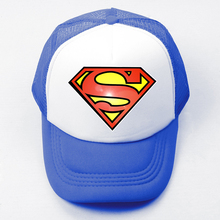 Summer Casual Children Boy Girl Baseball Caps DC Comics Superman Kal-El Clark Kent Superman Symbol Mesh Cap Adjustable Sport Hat(China)