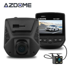 Azdome A305D FHD 1080P Car DVR Novatek 96658 Dual Lens LCD Screen Sony IMX323 Car Video Recorder Dash Cam With Rear Camera H51(China)