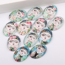 Buy reidgaller 20pcs mixed flatback frida photo oval glass cabochons 18x25mm diy jewelry making accessories for $3.96 in AliExpress store