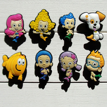 Singel 1pc Bubble Guppies PVC Shoe Charms Shoe accessories Shoe decoration Shoe Buckles Accessories Fit Croc JIBZ/wristbands(China)