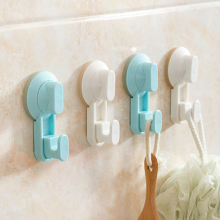 Kitchen Bathroom Suction Cup Suckers Powerful Vacuum Suction Robe Hooks Tile Free Nail Towel Sticky Hook Wall Hooks Hanger