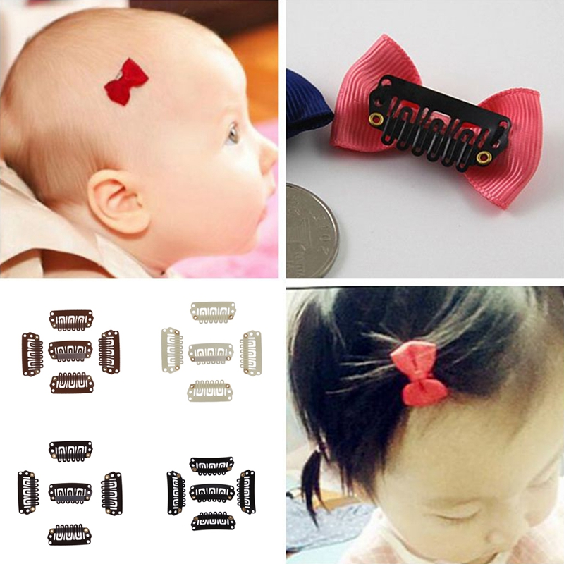 10PCS Bows Snaps Hair Clip Girls Baby Kids Hair Accessories Alligator Clips YK