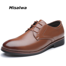 Misalwa Plus Size 6-12.5 Men Work / Office / Business / Dress Daily Shoes New Arrival Leather Derby Shoes Oxfords Drop Shipping(China)