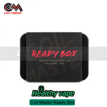 Autentic Coil Master Ready Box for Coil rebuildable Coil building Fused Clapton/Clapton Parallel/Triple Clapton With Pure Cotton