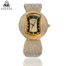 2016 Quartz Golden/Silver/ Rose Gold Bling Watches Women Fashion Luxury Watch Diamond Relogio Feminino Dourado