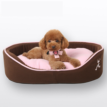 Winter cute pink small luxury dog bed House sofa Kennel  Soft Fleece Pet Dog Cat princess teddy Warm Bed Double sided available