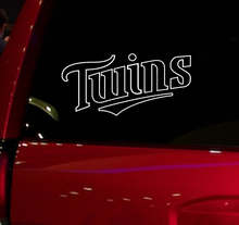Twins baseball game Auto Window Sticker Decal for Car Truck Suv Decal 7'' Car Window Vinyl Die Cut Sticker White