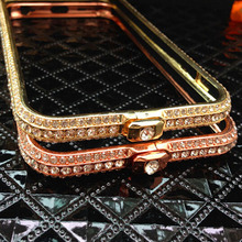 Buy Crown style metal rhinestone bumper bling luxury diamond clear crystal back cover phone case iPhone 5 5s SE Frame Capa Shell for $3.59 in AliExpress store
