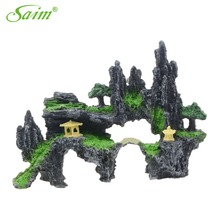 2017 New Mountain View Aquarium Rockery Large Size  Hiding Cave Tree Fish Tank Ornament Decoration For Fish Pet Loving Mountains