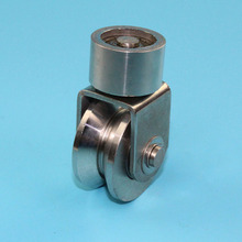 Universal pulley stainless material sliding gate Caster,door caster, groove V. 2pcs/lot(China)