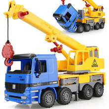 EFHH Inertial Simulation Crane Engineering Vehicle Model Diecast Toy Car Lifting and Rotating Telescopic Educational Toy for Kid(China)
