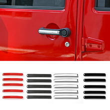 Buy MOPAI ABS Car Exterior Door Grab Handle Cover Trim Decoration Stickers Fit Jeep Wrangler 2007 Car Styling for $13.15 in AliExpress store