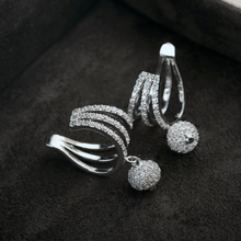 PhoenRing Charm fashion A level Micro CZ zircon personality show off No ear hole Ear bone clip earrings For women jewelry(China)