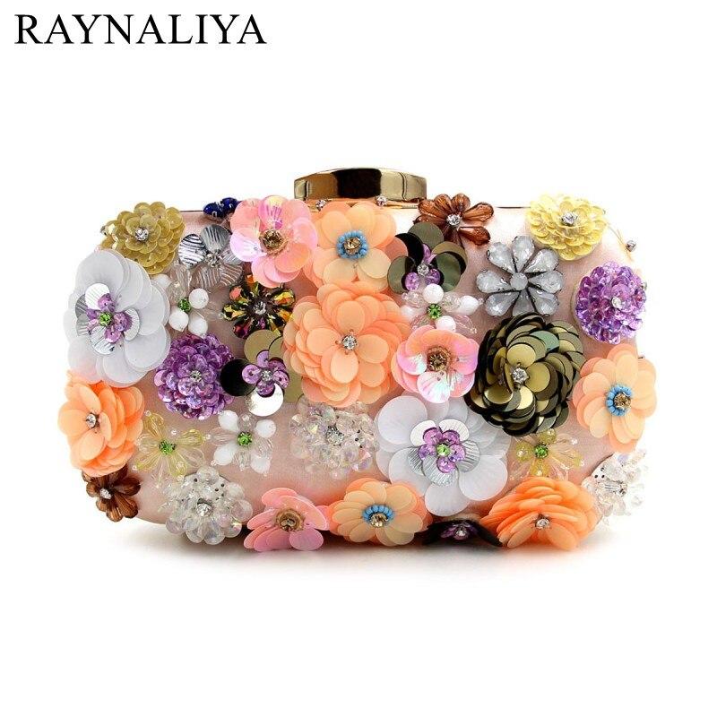 2017 Flowers Evening Clutch Bag Evening Bags Handbag Designer Handbags Party Purses Shoulder Bag High Quality Wallet SMYZH-E0148<br>