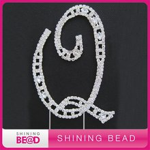 Free Shipping+High Quality+120mm+Fashion clear acrylic rhinestone cake topper(China)