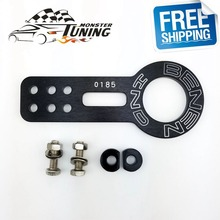 Free Shipping Anodized Universal Front Tow Hook Billet Aluminum Towing Kit For Honda Civic EK EG With Logo