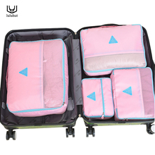 luluhut 4pcs/set travel set waterproof clothes storage portable functional bag shoes bag luggage sets underwear storage bag(China)