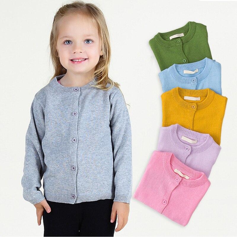 Little Boy Girls Spring Cardigan Children Long Sleeve Knit Sweatshirt Girls Knitted School Uniform Clothes for Baby Boys Girls