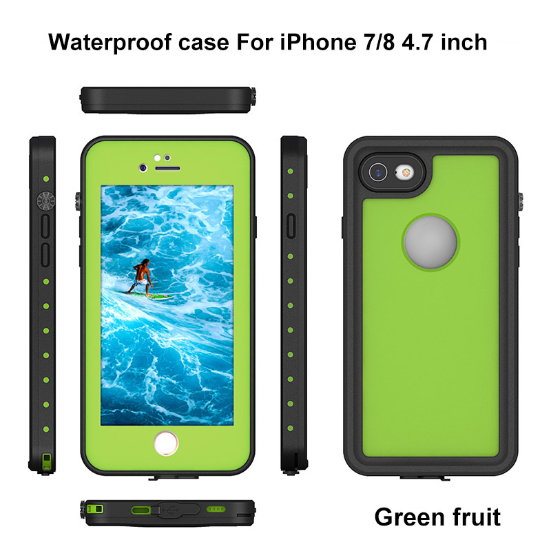 5.For iphone 7 8 plus waterproof case