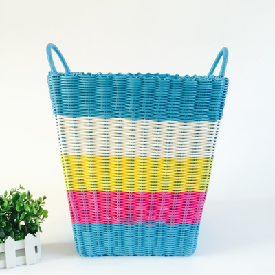 Dirty Clothes Basket Plastic Pipe Woven 4HQD (6)