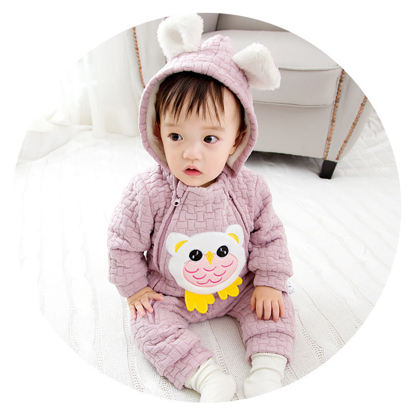 High Quality Cute Owl Baby Rompers Newborn Boy Clothes For Newborns Girls Jumpsuit Baby Clothes Newborn Kid Clothes 2017 New<br>