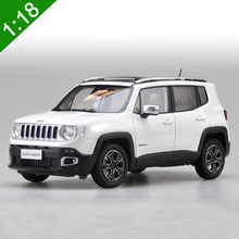 Free Shipping New 1/18 Jeep Renegade 2016 Cherokee City SUV Alloy Toy Car White Blue For adult Gifts Toys Original Box