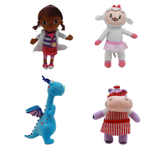 Girls 2018 Doc McStuffins Doctor Friend Girls & Dragon & Sheep & Hippo 30cm Big Size Plush Toys Stuffed Dolls Brinquedos Gift(China)