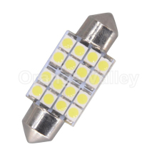 10Pcs Hotsale Festoon C5W 16 SMD LED 31mm 36mm 39mm 41mm 1210 3528 Car Interior Lighting Reading Lights Dome Light DC 12V