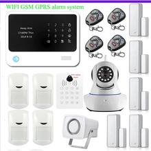 433MHz WiFi  House Security Alarm System wrieless RFID keypad APP Control  IP Camera App Integrated